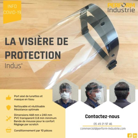Visière de protection industrielle